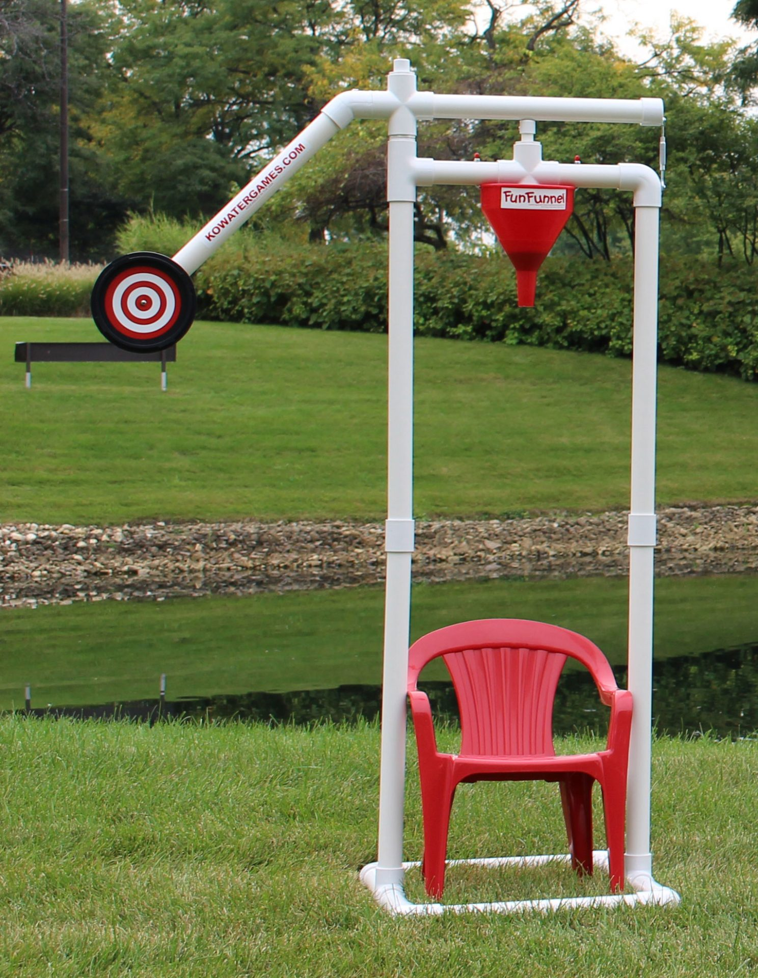 KO Water Games Fun Funnel (Kids Version) Outdoor Dunk Tank Game